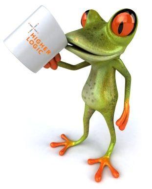 HIgher Logic's beloved mascot, Floyd Frog