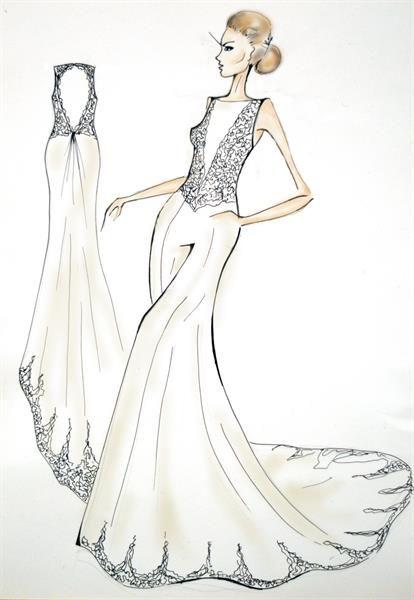 Сшить свадебное платье по эскизу