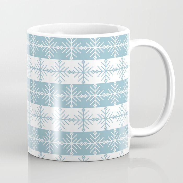Blue and white christmas ornament. Coffee Mug