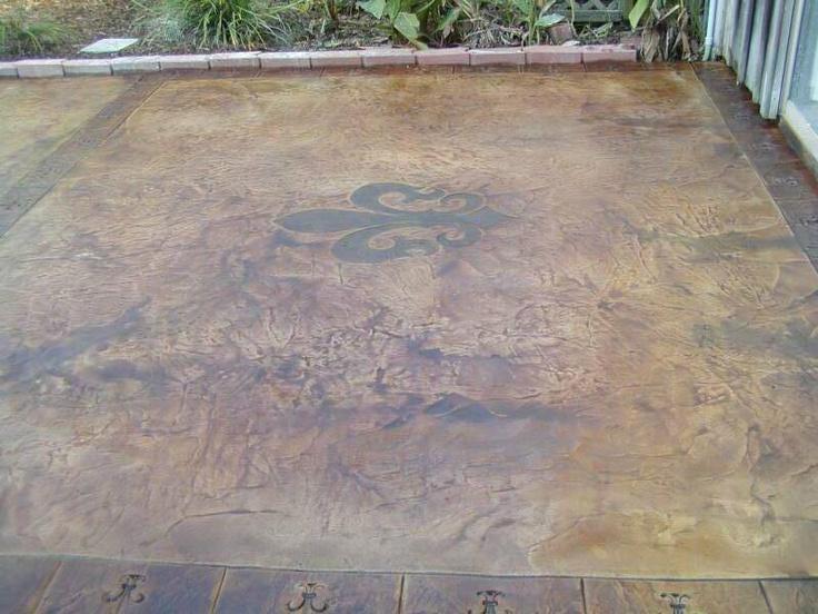 Concrete patio idea