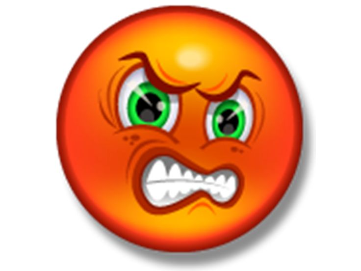 angry face emoticon facebook - photo #37