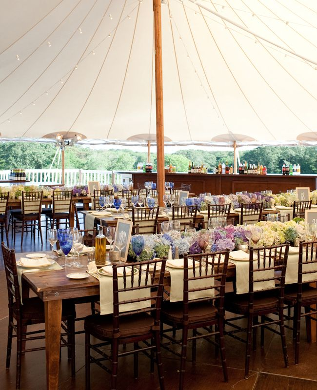 Reception tenting and tablescapes for this Martha's Vineyard wedding..