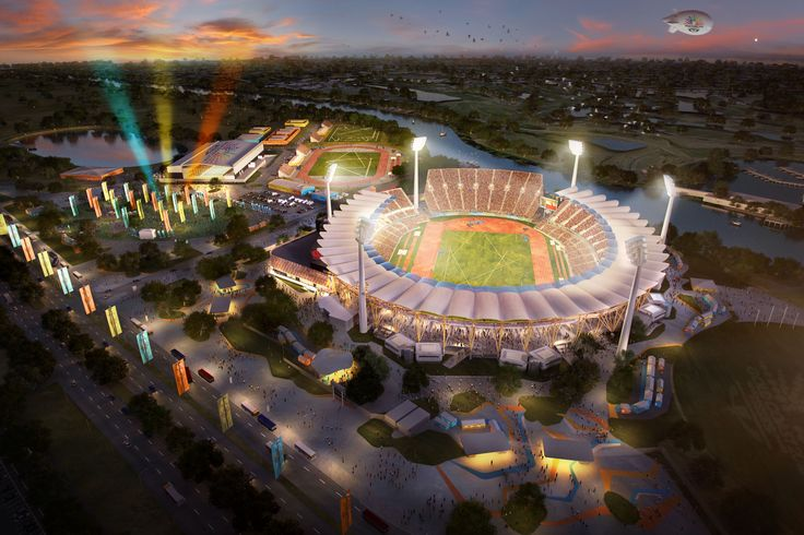 Gold Coast Stadium, Brisbane. 3D visualisation by Scharp #scharp #3dvisualisation #3dvisualization #stadium