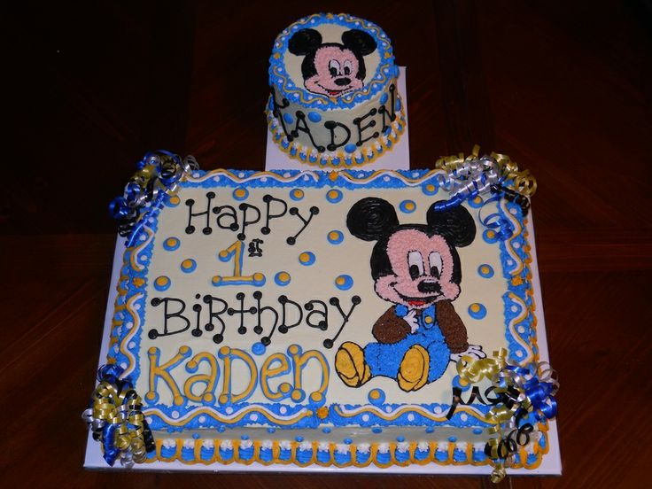 mickey mouse first birthday cake | Mickey Mouse First Birthday — Children's Birthday Cakes