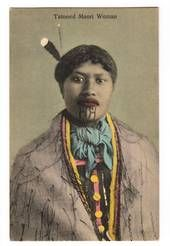 Coloured Postcard of Tatooed Maori Woman. - 69682 - Postcard - Postcards Maori - Postcards By Theme - EASTAMPS.COM