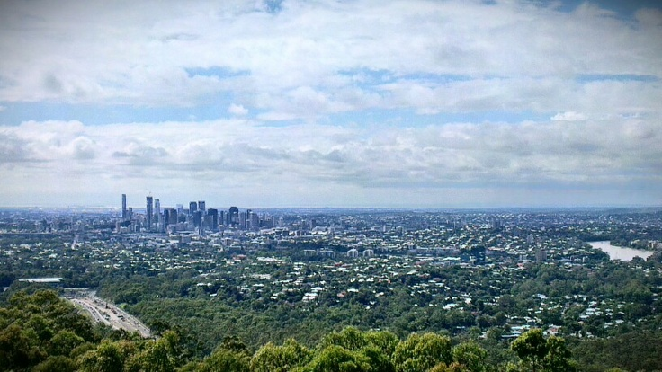 View of Brisbane from mt cootha lookout