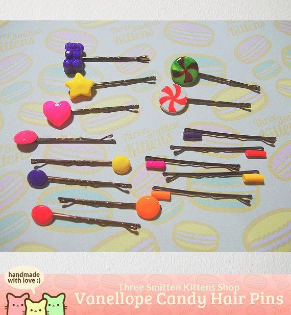 Vanellope's Hair Pins Wreck It Ralph by ThreeSmittenKittens, $16.00