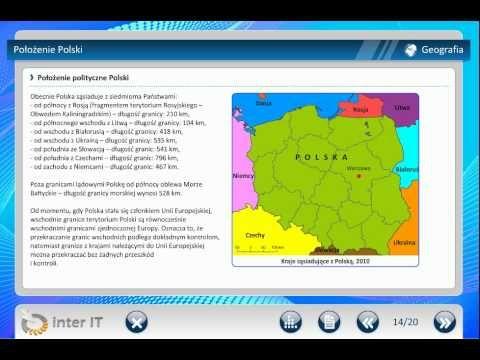 Geografia Przyrodnicze położenie Położenie Polski i podziały geograficzne