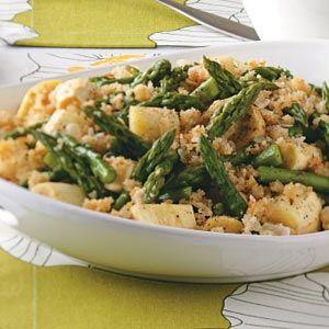 Parsnip-Asparagus Au Gratin from Taste of Home #tasteofhome #easterdinner