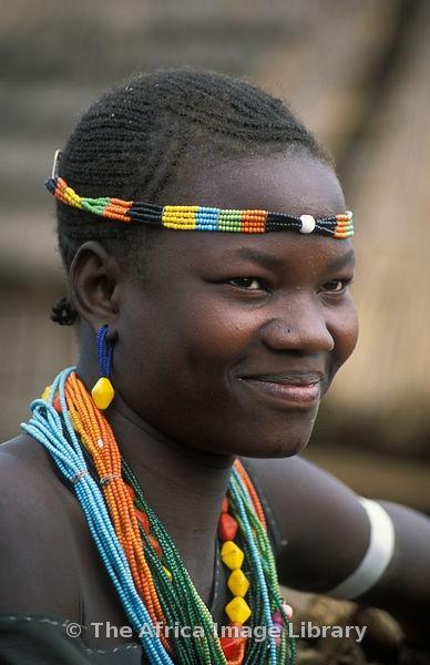 Karimojong girl portrait, Uganda