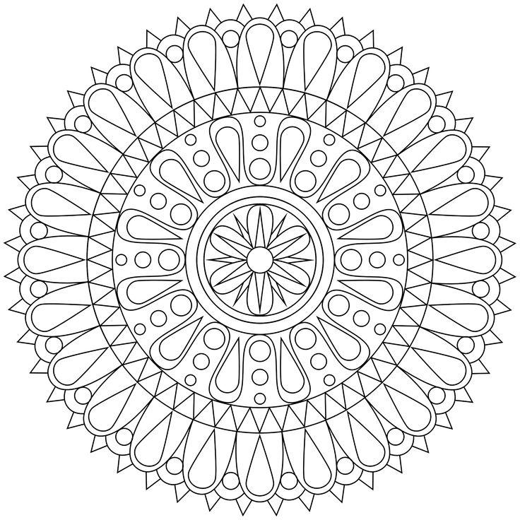 New Mandala Coloring Page