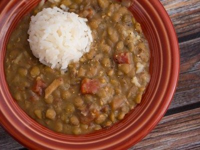 Pressure Cooker Lentil and Bacon Soup