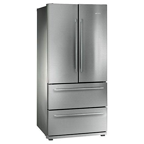 Buy Smeg FQ55FX 4-Door American Style Fridge Freezer, Stainless Steel Look Online at johnlewis.com