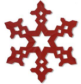 Kirigami - snowflake pattern