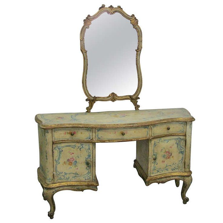 19th Century Venetian Rococo Style Painted Vanity. French VanityVintage ... - 23 Best Vanity Images On Pinterest Vanities, Dressing Tables And