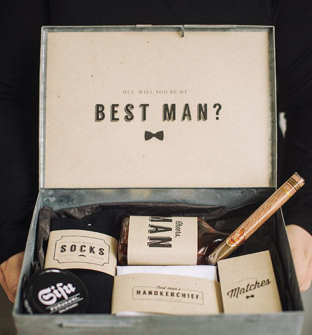 diy quotwill you be my best manquot box with free printables With wedding gifts from the best man