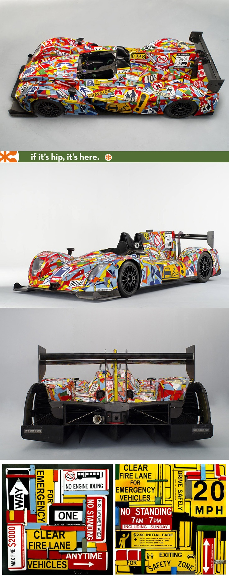 The Official Art Car for Le Mans 24 Hours by artist Fernando Costa (and a look at his other art)