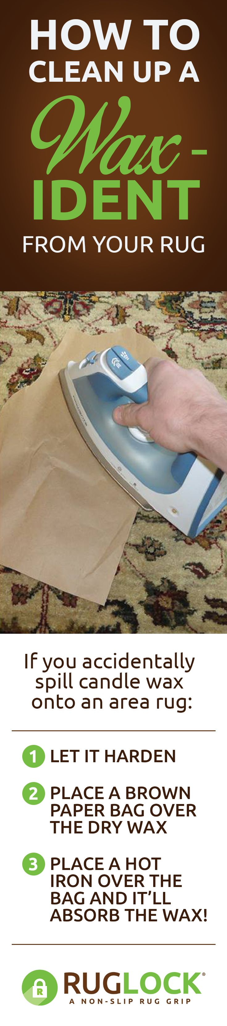 Need to remove candle wax from an area rug or carpet? No problem!