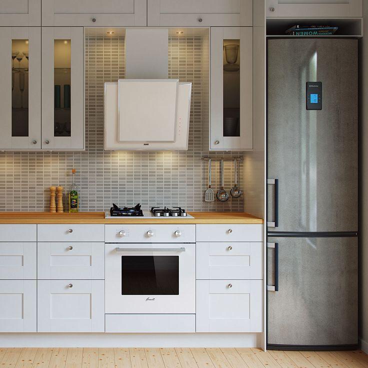 Вытяжки в интерьере кухни (47 фото): кухонные вытяжки - белые и черные, стеклянные и медные
