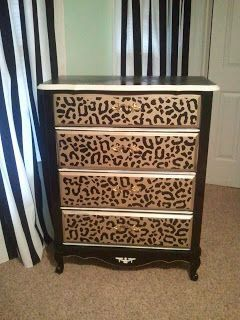 Leopard - I should do this to my dresser.