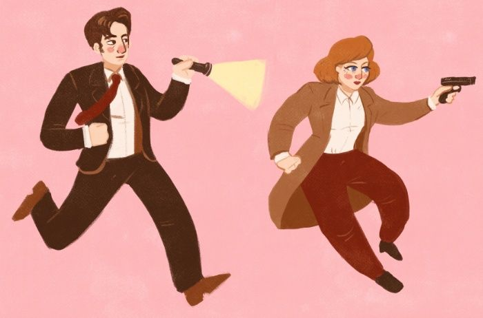 Mulder & Scully X Files print