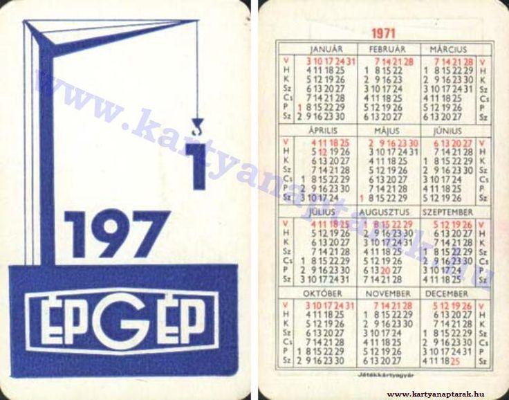 1971 - 1971_0571 - Régi magyar kártyanaptárak