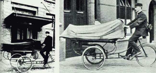Ziekenvervoer per fiets.