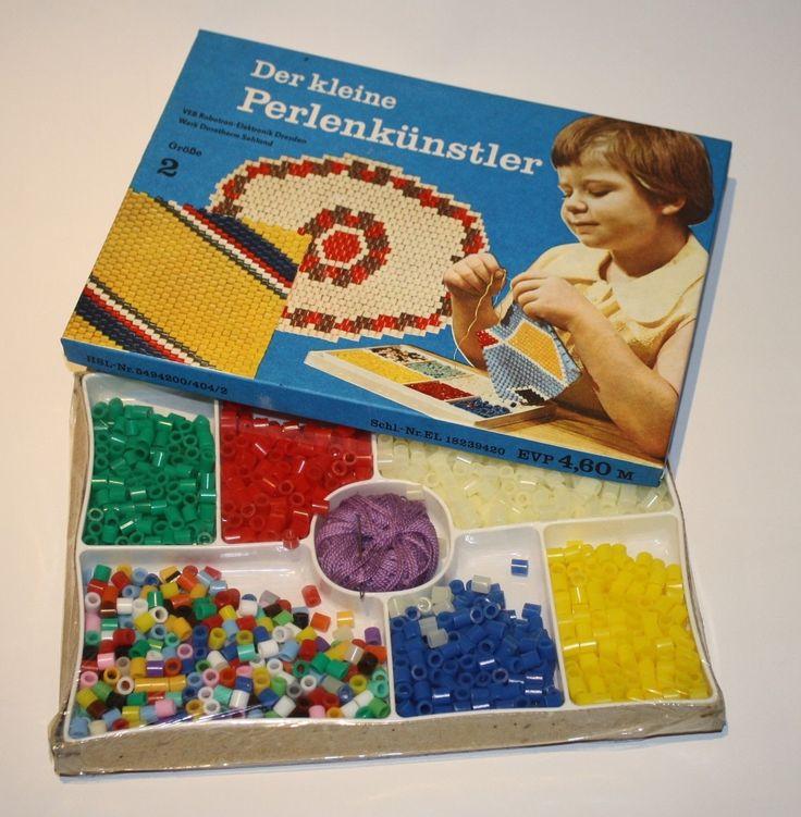 """DDR Kult - Der kleine Perlenkünstler damit hieß es im Hort Untersetzer """"Klöppeln"""" - ich mochte lieber die Glasperlen die gabs auch"""
