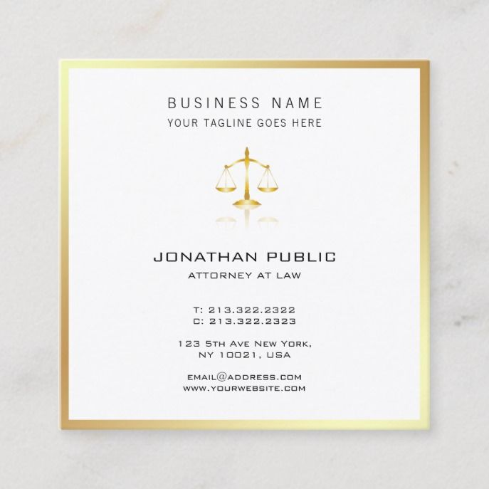Attorney At Law Office Justice Lawyer Modern Gold Square Business