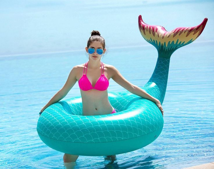 Giant Inflatable Float Raft Mermaid Tail Pool Summer Outdoor Swimming Lounge NEW #GiantInflatable