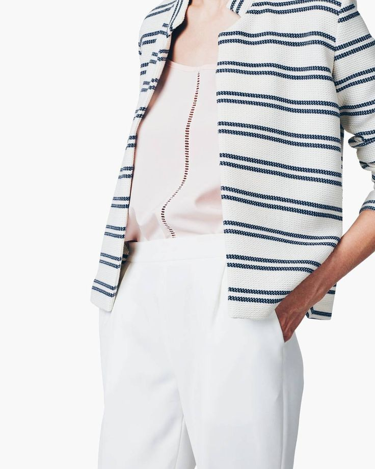SAILOR jacket ⚓ #maisonraquette #vacationstyle #cruisewear #resortwear #ootd #stripes #stripedjacket #maisonraquette #moleculef