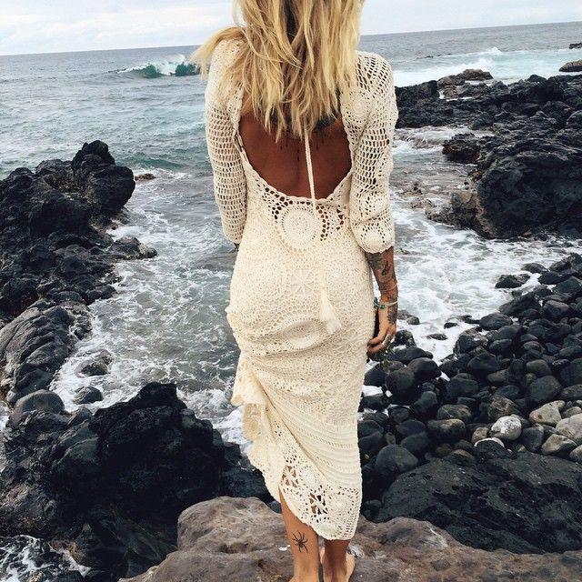 Margarita Crochet maxi dress {Dress comes with a detachable slip, shop it ON SALE via link in bio}