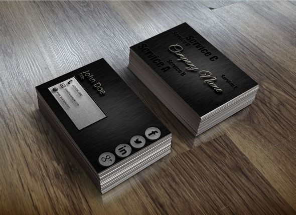 Simple, elegant and professional - this typography dark business card design gives the target market a great impression.