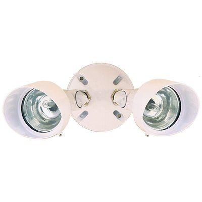 Heath-Zenith 2-Head 200-Watt White Halogen Dusk-To-Dawn Security Light