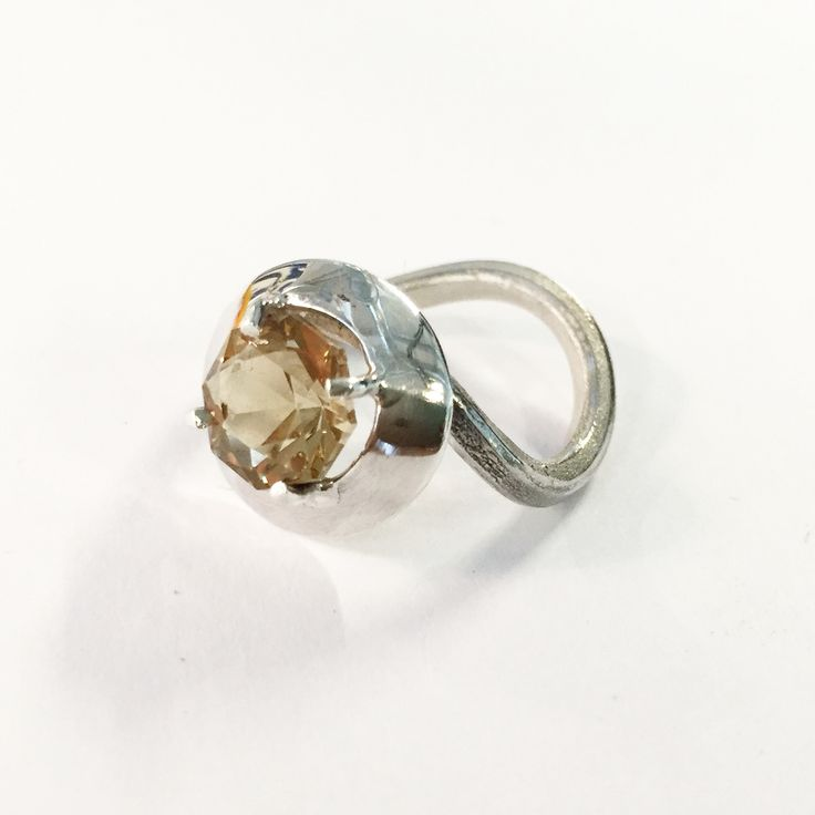Silver and champagne citrine