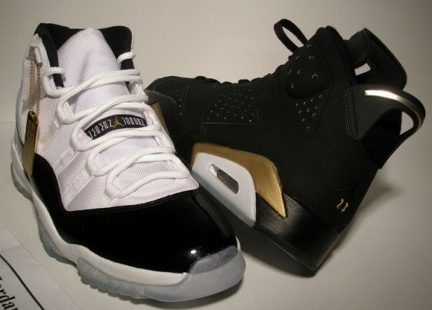 Air Jordan 11 (XI) Retro - Defining Moments Package (DMP) - White /  Metallic Gold - Black