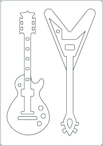 Printable Guitar Templates Luxury Template Electric Delighted Acoustic Inspiration Entry