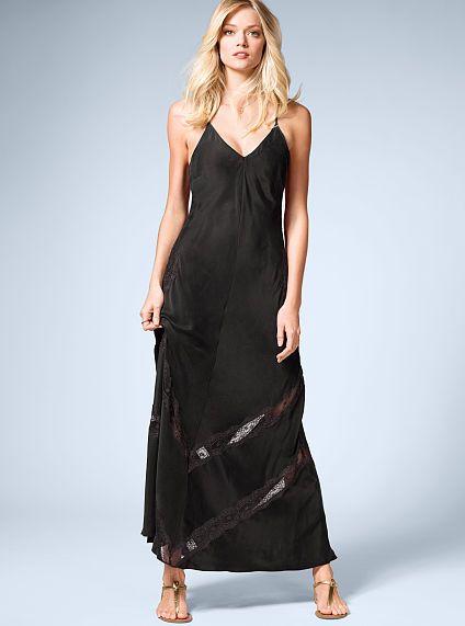 Lace-inset Maxi Dress
