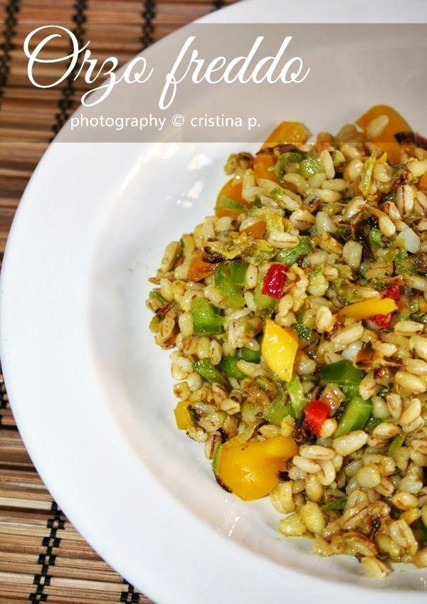 Orzo freddo (zucchine, peperoni, cipollotto, curcuma, zenzero, salsa di soia)