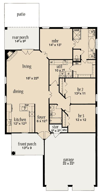85 best house plans secret images on pinterest for House plans with craft room