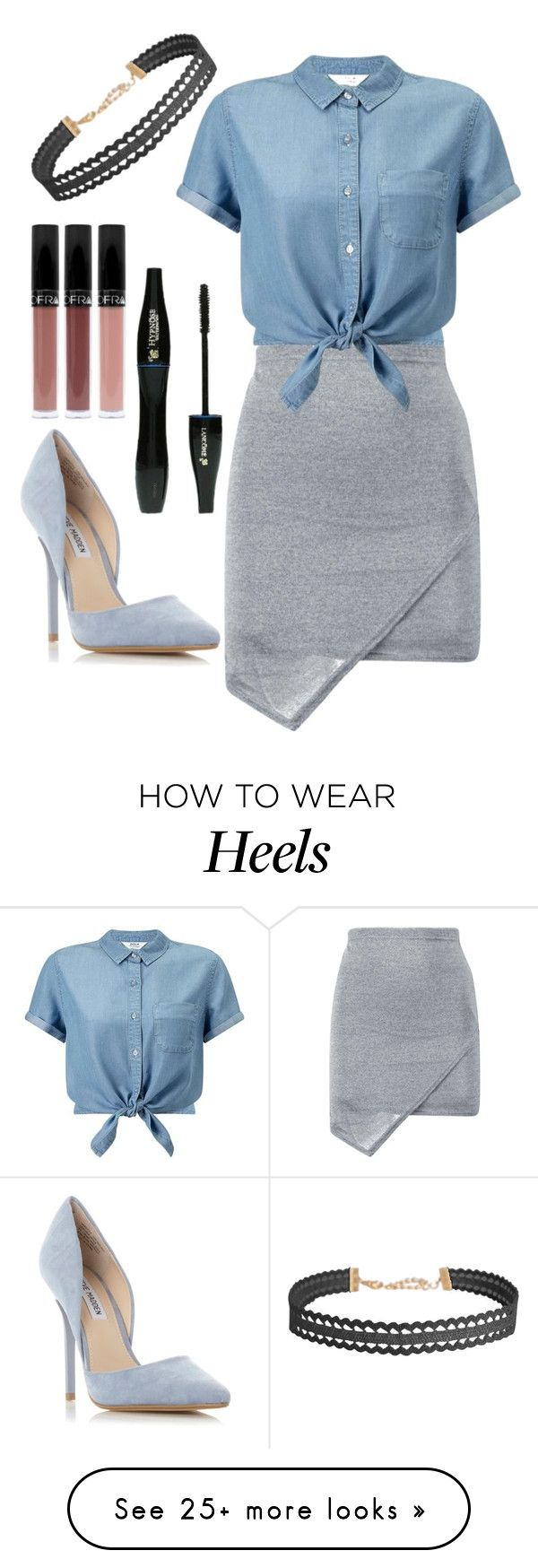 """#229"" by mahira-muminovic on Polyvore featuring Miss Selfridge, Steve Madden, Lancôme and Humble Chic"
