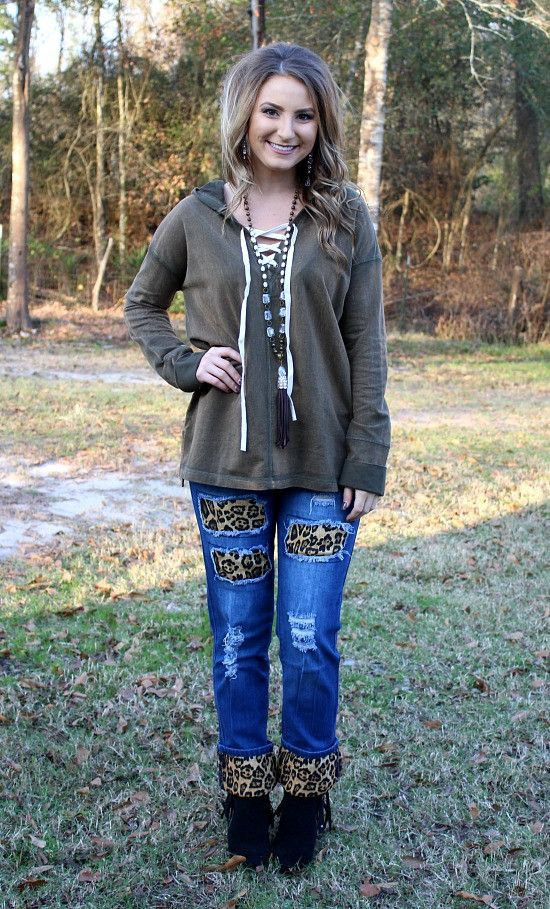 Lace Be Honest Lace Up Hoodie in Olive – Giddy Up Glamour Boutique
