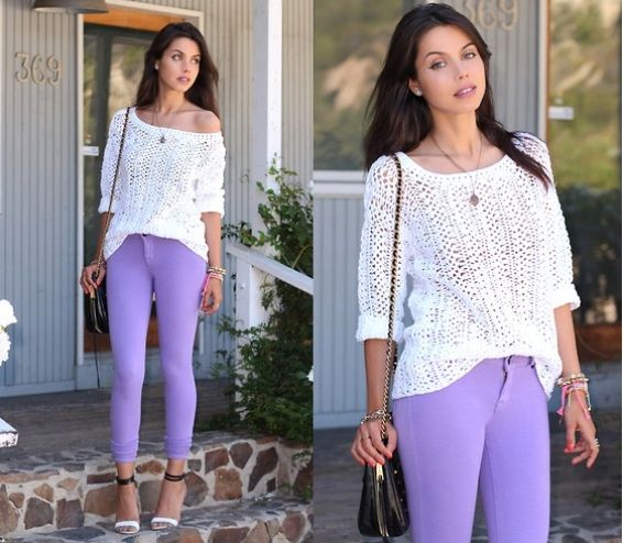 Violet and white