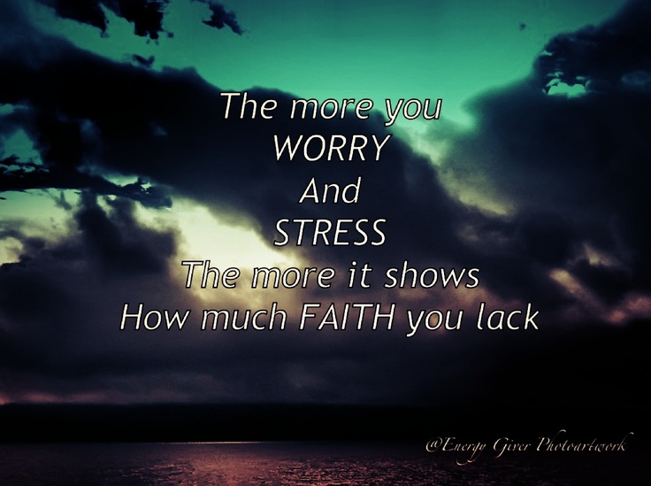 Don't worry too much...