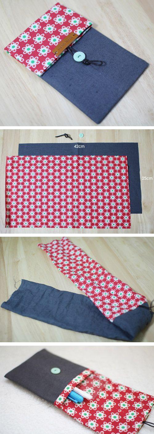 How to make pencil case. DIY step by step tutorial instruction.  http://www.handmadiya.com/2015/10/simple-fabric-pencil-case.html