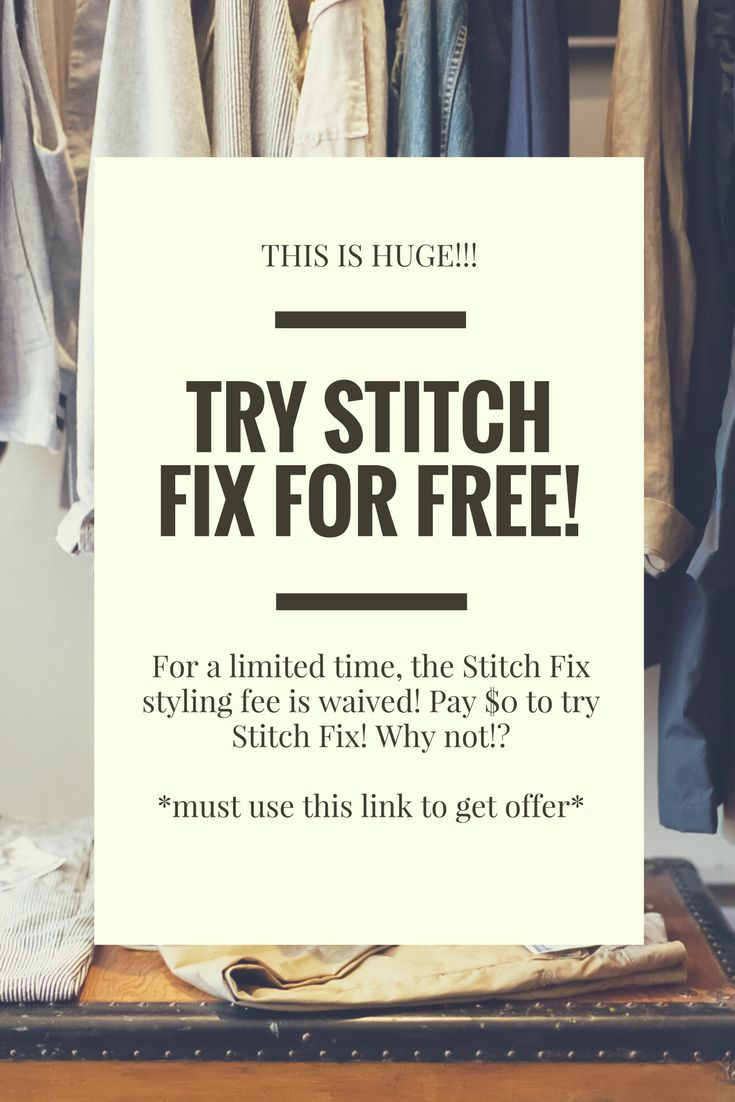 THIS IS HUGE!!!  For a limited time, get your first Stitch Fix style fee waived!! Pay $0 to try Stitch Fix!!! There is no reason not to! I love Stitch Fix and honestly give credit to the styling service for upping my fashion game. I highly recommend it. Since it is free why not give it a shot!? To get the deal you must use my affiliate link below. YAY! Enjoy :)  http://www.tkqlhce.com/click-8314791-13126820  kittysclosetandmore.com #stitchfixinfluencer #stitchfixstyle #stitchfix…