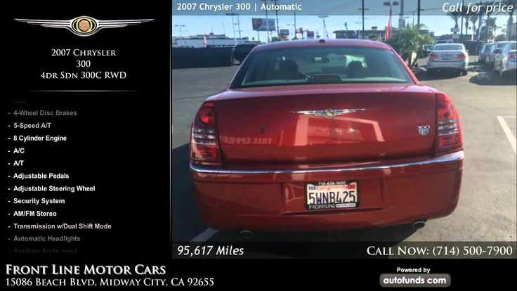Used 2007 Chrysler 300 | Front Line Motor Cars, Midway City, CA