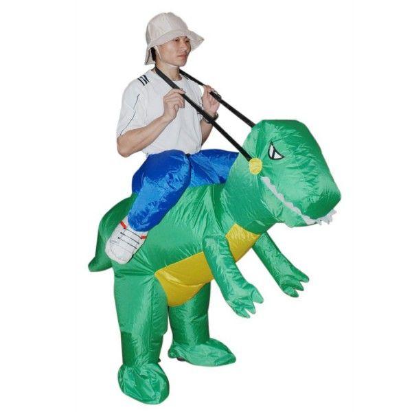 Un costume de dinosaure gonflable, un des meilleurs trucs jamais créé