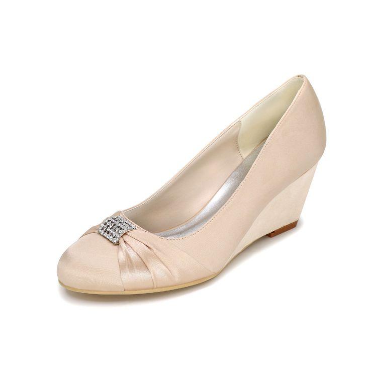 Элегантная дамская клин каблуки атласные вечерние платья пляж свадебные насосы homecoming обувь фиолетовый серебристо-серый белый кот chapagne красный(China (Mainland))