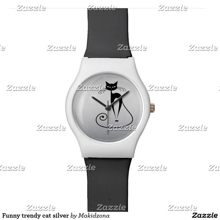 Funny trendy cat silver